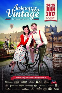 Affiche Anjou Vélo Vintage 2017