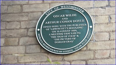 Arthur Conan Doyle et Oscar Wilde