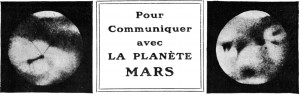 Pour communiquer avec la planète Mars