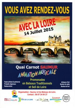 Fête de la Loire, Saumur, 14 juillet 2015