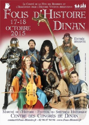 Affiche de Fous d'histoire à Dinan les 17 et 8 octobre 2015