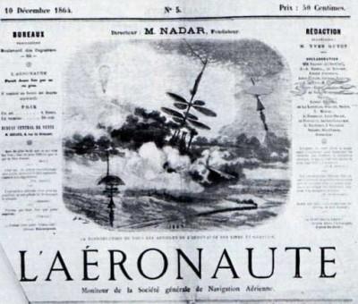 Revue l'Aéronaute, fondée par Nadar