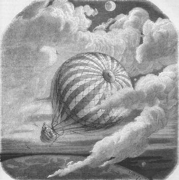 Illustration de Yan d'Argent pour Aventure sans pareille d'un certain Hans Pfaall