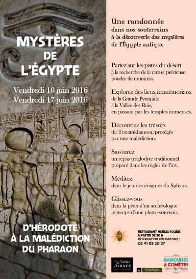 Mystères de l'Egypte soirée à thème Nobles Fouées